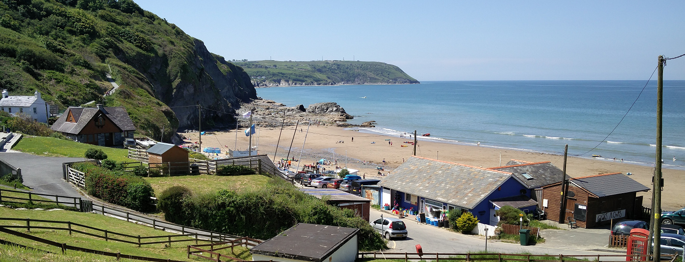 Beachlife at nearby <strong>Tresaith</strong>
